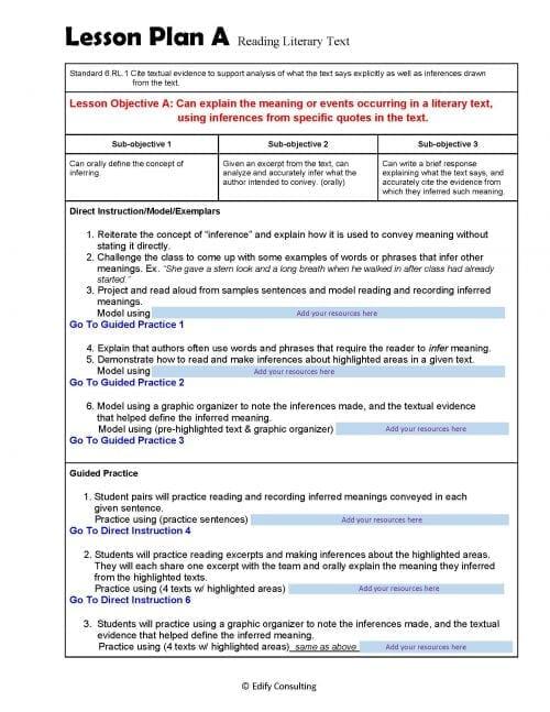 Lesson Plans (Fillable-form)