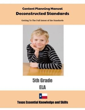 Texas Content Planning Manuals - downloadable (Click to Select ELA or Math)