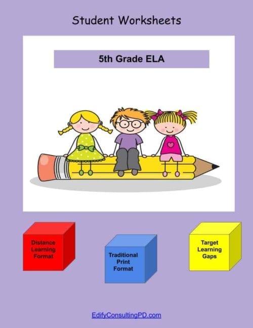 5th Grade Worksheets-ELA