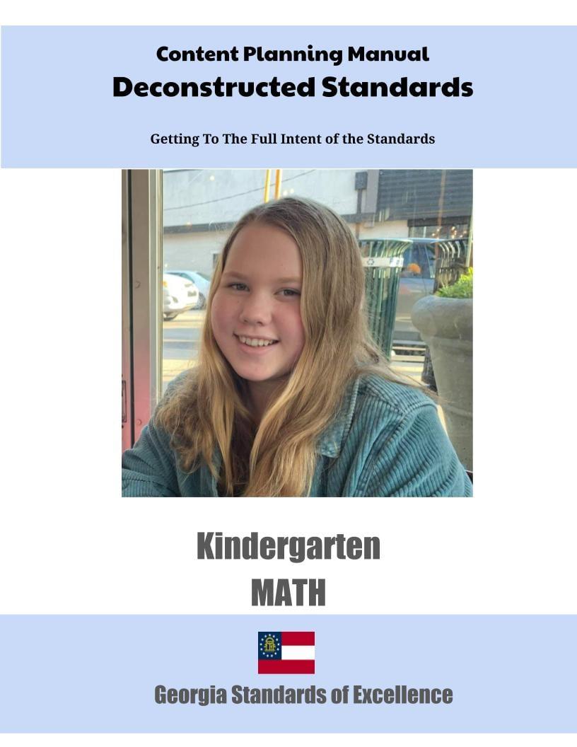 Georgia Deconstructed Standards Content Planning Manual Math Kindergarten 1 1 - Georgia Kindergarten Math Standards