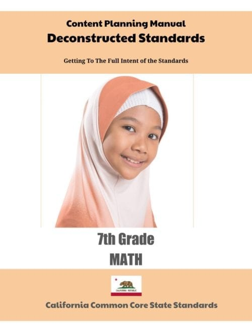 California Deconstructed Standards Content Planning Manual (Click to Select ELA or MATH)