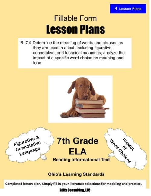 Ohio ELA Lesson Plans (Click to select your grade level)