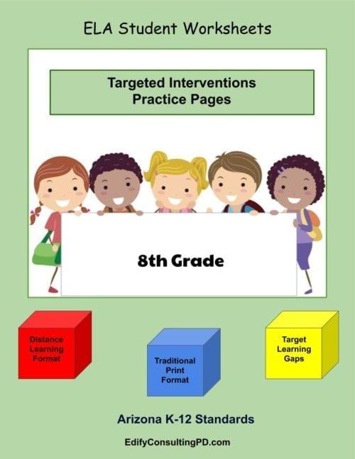 8th Grade Worksheets-ELA