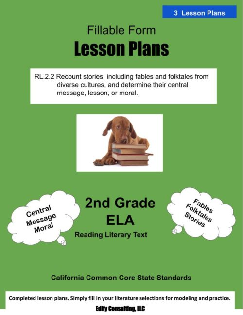 California Lesson Plans (fillable-form)