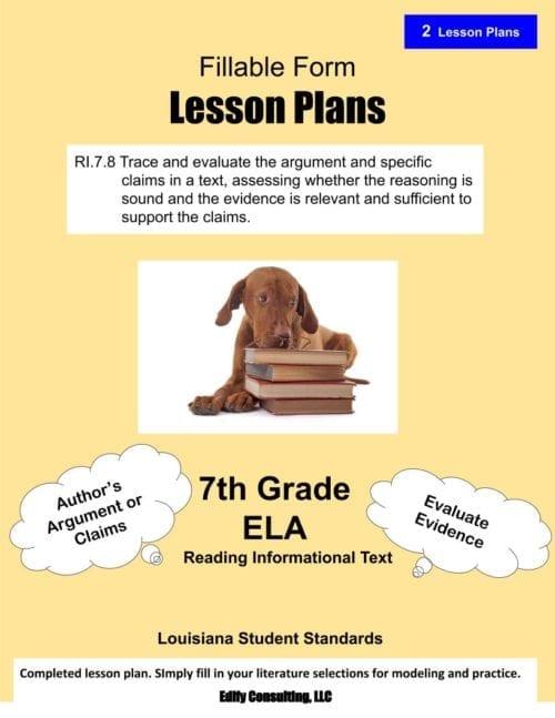 Louisiana Lesson Plans (fillable-form)