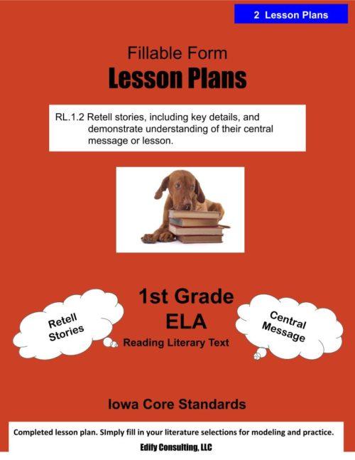 Iowa Lesson Plans (fillable-form)