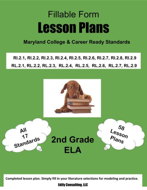 Maryland Lesson Plans (fillable-form)