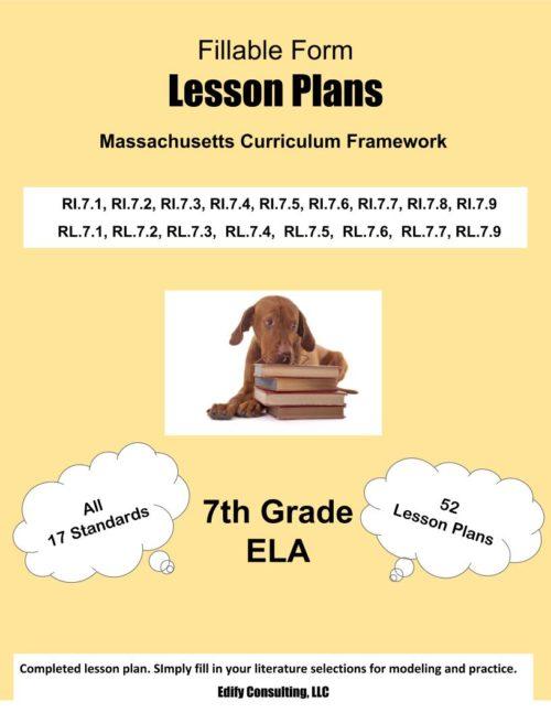 Massachusetts Lesson Plans (fillable-form)